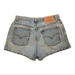 Vintage Levi's jean shorts, high-waist, 30 in.